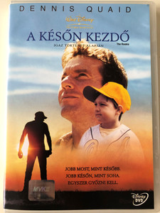 The Rookie DVD 2002 A Későn kezdő - Igaz történet alapján / Directed by John Lee Hancock / Starring: Dennis Quaid, Rachel Griffiths, Jay Hernandez, Brian Cox (5996255709483)