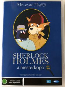 Fiuto di Sherlock Holmes 2. DVD 1984 Sherlock Holmes a mesterkopó 4. (Sherlock Hound ) / Directed by Miyazaki Hayao / Japanese-Italian cartoon series / Episodes 4-6 (5998133199430)