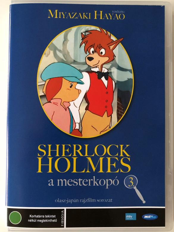 Fiuto di Sherlock Holmes 3. DVD 1984 Sherlock Holmes a mesterkopó 3. (Sherlock Hound ) / Directed by Miyazaki Hayao / Japanese-Italian cartoon series / Episodes 7-9 (5996492100036)