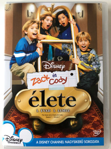The Suite Life of Zack & Cody - Season 1 - Vol 1. DVD 2005 Zack és Cody Élete 1. Évad 1 lemez / Created by Danny Kallis, Jim Geoghan / Starring: Cole Sprouse, Dylan Sprouse, Brenda Song, Ashley Tisdale, Kim Rhodes / Disney's Big Hit Sitcom (5996255731002)