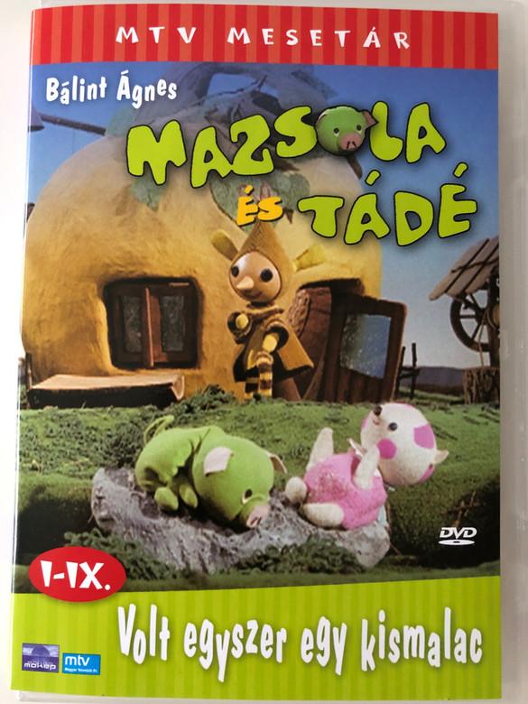 Mazsola és Tádé DVD I-IX. Volt egyszer egy kismalac / Written by Bálint Ágnes / MTV Mesetár / 9 episodes / Hungarian classic cartoon / 9 epizód (5996357310037)