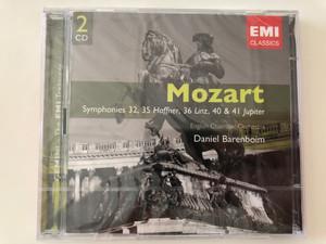 Mozart - Symphonies 32, 35 Haffner, 36 Linz, 40 & 41 Jupiter / English Chamber Orchestra / Daniel Barenboim / Emi Records 2x Audio CD 2006 Stereo / 094635092226