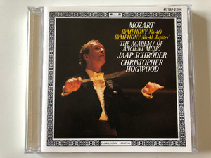 "Mozart - Symphony No. 40, Symphony No. 41 ""Jupiter"" / The Academy Of Ancient Music, Jaap Schröder, Christopher Hogwood ‎/ The Decca Record Co. Ltd Audio CD 1986 Stereo / 417 557-2"