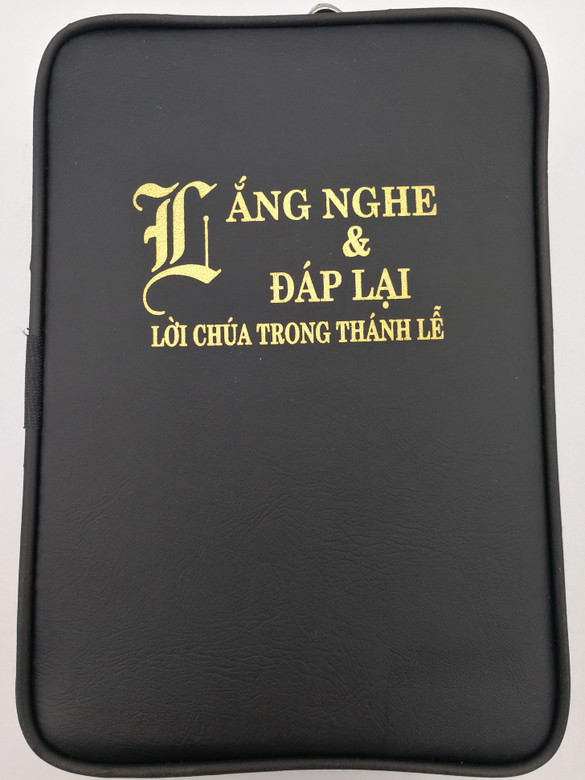 Lắng Nghe & Đáp Lai - Lời Chúa trong thánh lễ / NXB Tón Giáo / Listening & Answering - The Word of God at Mass / Vietnamese Catholic Missal hardcover book in Black leather cover with zipper (9786046150732)