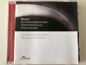 Mozart - Eine Kleine Nachtmusic, Divertimento K.251, A Musical Joke / Concentus Musicus Wien, Nikolaus Harnoncourt / Elatus Audio CD 2003 / 2564-60123-2