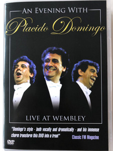 An evening with Placido Domingo DVD 2002 Live at Wembley / Conducted by Eugene Kohn / Amor ti Vieta, On the Street where you Live, Nu puede ser, Granada / Warner Music (5051011264221)