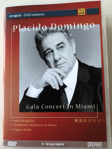 Placido Domingo DVD 2002 Gala Concert in Miami / Ana Panagulias, Symphonic Orchestra of Miami, Conducted by Eugene Kohn / amado DVD-classics (4028462600138)