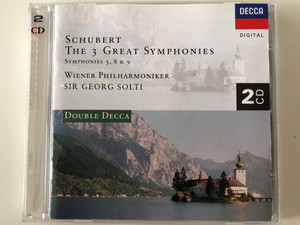 Schubert – The 3 Great Symphonies, Symphonies 5, 8 & 9 / Wiener Philharmoniker, Sir Georg Solti / Double Decca / Decca ‎2x Audio CD / 448 927-2