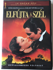 Gone with the Wind (1939) 2 DVD Elfújta a szél - duplalemezes változat / 2 disc edition / Directed by Victor Fleming / Starring: Clark Gable, Vivien Leign, Leslie Howard, Olivia de Havilland (5948211020743)