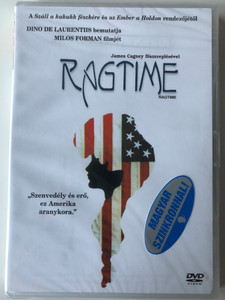 Ragtime DVD 1981 / Directed by Miloš Forman / Starring: James Cagney / Based on the 1975 novel Ragtime by E. L. Doctorow (5999010451498)