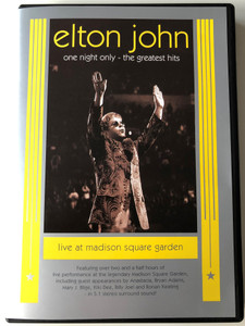 Elton John - One night only DVD 2001 The Greatest hits - Live at Madison Square Garden / Directed by David Mallet / Mercury Records (0044006095295)