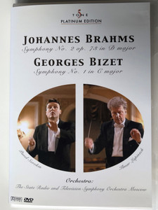 Johannes Brahms - Georges Bizet DVD 2005 Symphony No 2 op. 73 in D major - Symphony No. 1 in C major / Conducted by Pavel Sorokin, Aamado - Cascade GmbH (4028462970026)