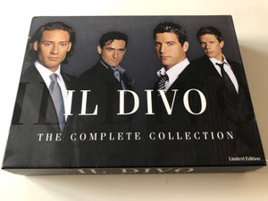 ll Divo - The Complete Collection 5 Disc Set / Limited edition 2x DVD + 3 CD / Ancora, Siempre, Encore, Live At the Greek Theatre / Syco Music - Sony BMG (0886970694322)