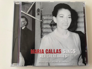 Maria Callas ‎Sings Her Great Aria's / Original Artist, Original Recordings / Disky ‎Audio CD 2006 / SI 903629