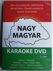 Nagy Magyar Karaoke DVD 1. rész / Great Hungarian Karaoke / Jól olvasható szövegek - Minőségi Hangszerelés - Igazi Slágerek / Ossián, Beatrice, Nemzeti Front, Kárpátia / King Records KR001 (5999883555064)
