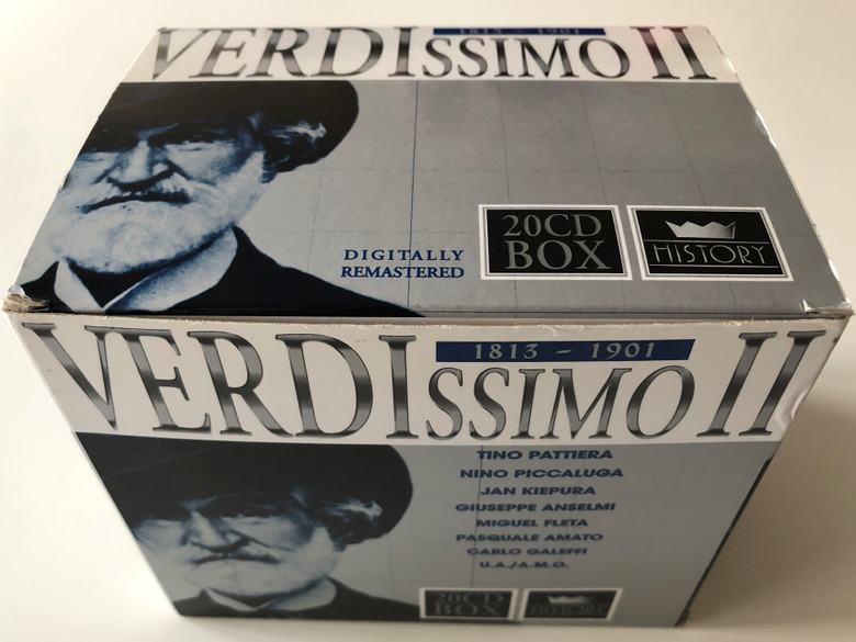 Verdissimo (1813-1901) / Digitally Remastered / Tino Pattiera, Nino Piccaluga, Jan Kiepura, Giuseppe Anselmi, Miguel Fleta, Simon Boccanegra, Luisa Miller, Don Carlos / TIM The International Music Company Box Set 20x Audio CD 2001 / 205663-333