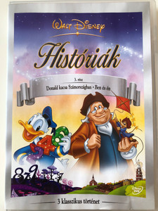 Disney's Fables Vol 3. DVD 2005 Disney Históriák / Donald in Mathmagic Land (1959), Ben and Me (1953), Modern Inventions (1937) / 3 rész: Donald kacsa Számországban - Ben és én / 3 klasszikus mese / 3 classic fairytales (5996255712759)