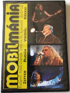 MobilMánia DVD+CD Zeffer, Rudán, Vikidál, Kékesi / Budapest Petőfi csarnok 2009 koncert / Túl Bolond, Kötéltác, Rocktóber, Regina Sír, EMI 2009 (5099945807190)