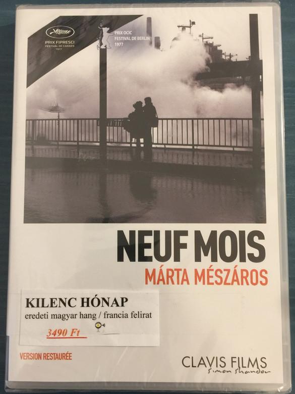 Neuf mois (Nine Months) DVD 1976 Kilenc hónap / Directed by Mészáros Márta / Starring: Monori Lili, Jan Nowicki, Djoko Rosic, Berek Kati, Dudás Mária / B&W Hungarian movie (3700246907473)
