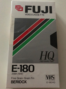Fuji E-180HQ Video casette VHS / Fine Grain / Grain Fin - Beridox / Recording and Playback time: 3h (4902520003935)