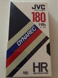 JVC E-180HR video casette VHS Pal/Secam / Dynarec - High Resolution / Recording time 180 min SP / 360 min LP (4975769002052)