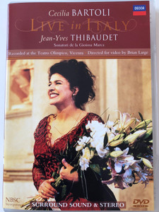 Cecilia Bartoli - Live in Italy DVD 1998 Jean-Yves Thibaudet / Recorded at the Teatro Olimpico, Vicenza / Directed by Brian Large / Decca (044007410493)