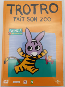 Trotro - Fait son zoo DVD 2004 / Bonus: Interacive Games - Jeux Interactifs / Directed by Eric Cazes, Stephane Lezoray / French animated tv show / 13 episodes (5050582511079)