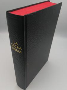 La Sacra Bibbia / Italian Holy Bible / Giovanni Diodati translation / Black Hardcover, Red page edges / Liberia Sacre Scritture 1988 / Ossia L'antico e il Nuovo Testamento (0564006688)