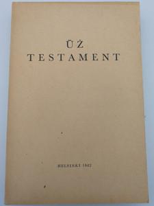 Latvian New Testament - ūž testament / Paperback 1942 / Published by the Finnish Bible Society - Helsinki (LatvianNT1942)