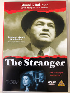 The Stranger DVD 1946 / Directed by Orson Welles / Starring: Edward. G. Robinson, Loretta Young, Orson Welles, Philip Merrivale / Special Feature: Full-length Commentary (5060000401127)
