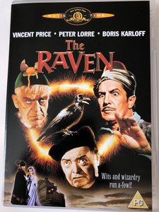 The Raven DVD 1963 / Directed by Roger Corman / Written by Edgar Allan Poe / Starring: Vincent Price, Peter Lorre, Boris Karloff (5050070010602)
