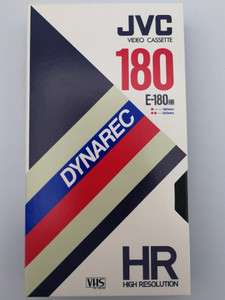 JVC Dynarec E-180HR video casette VHS Pal/Secam / High Resolution / Recording time 180 min SP / 360 min LP (4975769002052.)