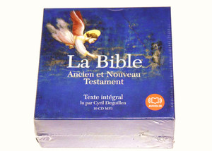 French Audio Bible MP3 Format / 10 CD MP3 / La Bible Ancien et Nouveau Testam...