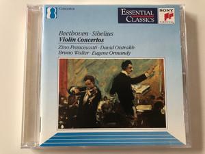 Beethoven, Sibelius – Violin Concertos / Zino Francescatti, David Oistrach, Bruno Walter, Eugene Ormandy / Sony Classical Audio CD 1991 / SBK 47659