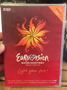 Eurovision Song Contest Baku 2012 3x DVD Light your Fire! / The Semi-Finals & The Grand Final + Bonus Material / More than 8 hrs of Europe's Favourite TV Show / CMC Entertainment (0602537014194)