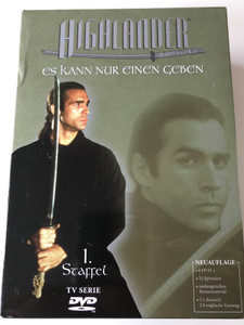 Highlander the Series Season 1 - 8xDVD SET 1992 / German Release / Es kann nur einen Geben / Produced by Gary Goodman, Barry Rosen / Starring: Adrian Paul, Alexandra Vandernoot, Stan Kirsch (4044404103536)