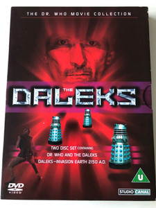 The Daleks 2xDVD SET 1965 Containing Dr. Who and the Daleks - Daleks-Invasion Earth 2150 A.D / The Dr. Who Movie Collection / Directed by Gordon Flemyng / Starring: Peter Cushing, Roy Castle, Jennie Linden, Bernard Cribbins, Ray Brooks (7321900384704)