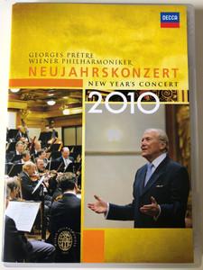 Georges Pretre: Neujahrskonzert 2010 DVD New Year's Concert / Wiener Philharmoniker / Lie From Vienna / Decca 074 3376 (044007433768.)