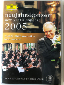 Neujahrskonzert 2005 DVD New Year's concert / Wiener Philharmoniker / Conducted by Lorin Maazel / Directed by Brian Large / Deutsche Grammophon (044007340202)