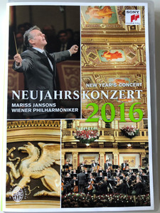 Neujahrskonzert 2016 DVD New Year's Concert / Directed by Michael Beyer / Conducted by Mariss Jansos / Wiener Philharmoniker / Sony Classical (888751747890)