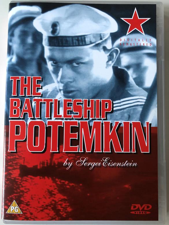 The Battleship Potemkin DVD 1925 / Directed by Sergei M. Eisenstein / Starring: Aleksandr Antonov, Vladimir Barksy, Grigori Aleksandrov / Silent Black and White film / Digitally Remastered (5060000404111)