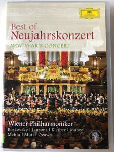 Best of Neujahrskonzert DVD 2007 New Year's Concert / Wiener Philharmoniker / Conductors: Boskovsky, Jansons, Kleiber, Maazel, Mehta, Muti, Ozawa / Deutsche Grammophon (044007344224)