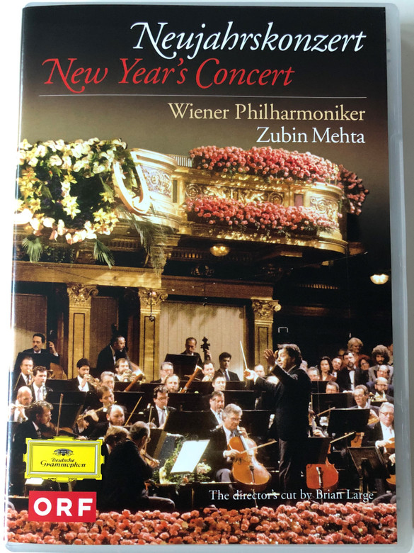 Neujahrskonzert DVD 1990 New Year's Concert / Directed by Brian Large / Wiener Philharmoniker / Conducted by Zubin Mehta (044007344545)