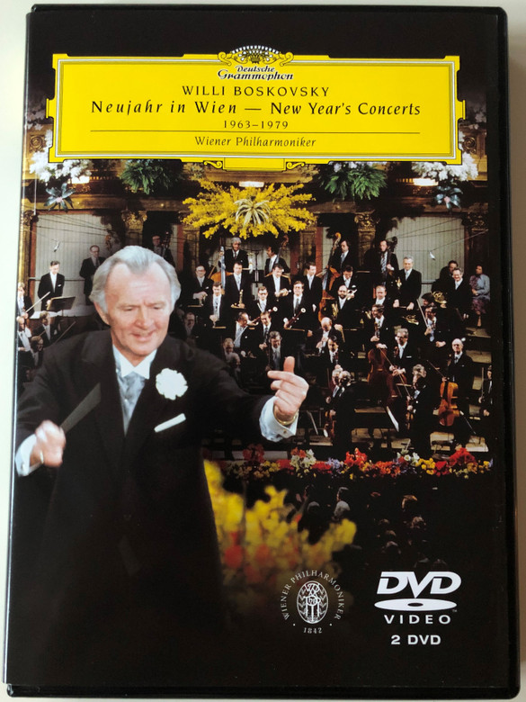 Willi Boskovsky - Neujahr in Wien 2x DVD 2004 New Year in Vienna 1963-1979 / Wiener Philharmoniker / Deutscher Grammophon (044007340028)