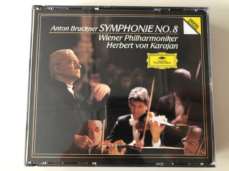 Anton Bruckner – Symphonie No. 8 / Wiener Philharmoniker, Herbert Von Karajan / Deutsche Grammophon 2x Audio CD 1989 Stereo / 427 611-2