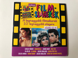 Ujra! / Film-Slagerek - A legnagyobb filmsikerek 10 legnagyobb slagere / Vagre Cd-n! / Gergely Robert - Emmanuelle, Zambo Jimmy - Only You, Pa-Do-Do - La Bamba, Zoltan Erika/Kiki - Nekemć Ferfi Kell / Magneoton Audio CD 2012 / 5999885533213