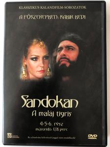 Sandokan Parts 4-6 DVD 1976 Sandokan a maláj tigris / Directed by Sergio Sollima / Starring: Kabir Bedi, Philippe Leroy, Adolfo Celi, Carole André (5999552560405)