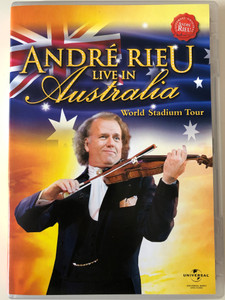 André Rieu DVD 2008 Live In Australia - World Stadium Tour / The Johann Strauss Orchestra, Imperial Ballet of Vienna, Tanzschule Elmayer Stars on Ice, Australian Federal Plice Pipes and Drums & Friends / Polydor (602517935143)