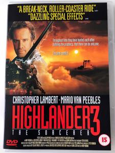 Highlander 3 - The Sorcerer DVD 1994 / Directed by Andrew Morahan / Starring: Christopher Lambert, Mario Van Peebles, Deborah Unger (5017239191206)