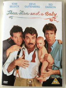 Three Men and a Baby DVD 1987 / Directed by Leonard Nimoy / Starring: Tom Selleck, Steve Guttenberg, Ted Danson (5017188884402)